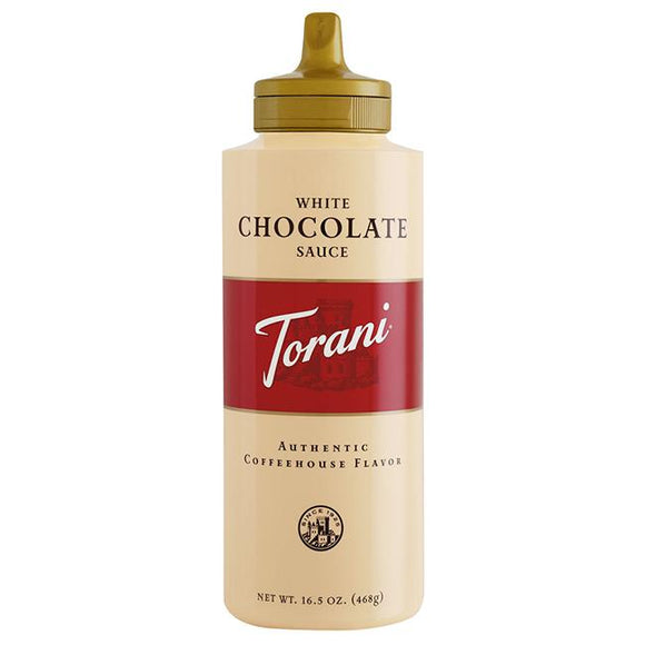 Torani White Chocolate Sauce Squeeze Bottle (16.5oz)-Sauces-torani-Carry Out Supplies