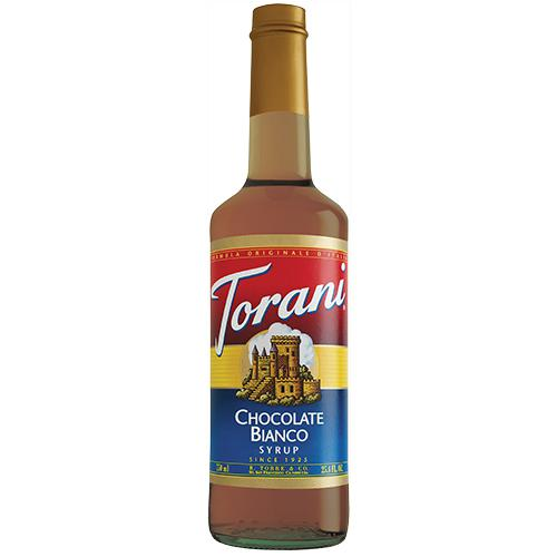 Torani White Chocolate Syrup - 750 ml Bottle-Syrups-torani-Carry Out Supplies