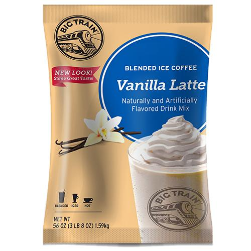 Vanilla Latte Blended Ice Coffee - Big Train Mix - Bag 3.5 pounds-Powdered Base-Big Train-Carry Out Supplies