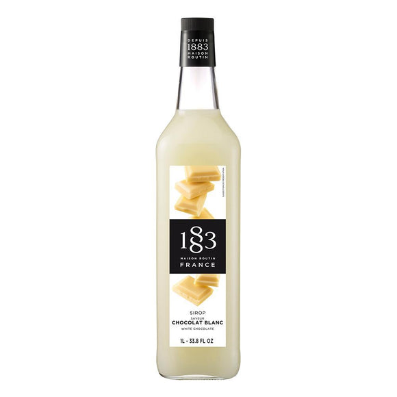 White Chocolate Syrup 1883 Maison Routin - 1 Liter Bottle-Syrups-1883 Maison Routin-Carry Out Supplies