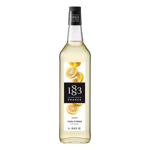 Yuzu Lemon Syrup 1883 Maison Routin - 1 Liter Bottle-Syrups-1883 Maison Routin-Carry Out Supplies