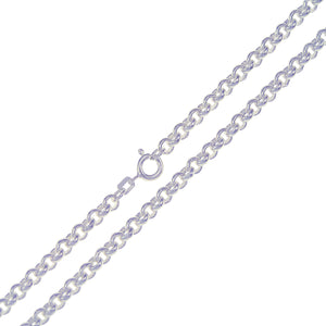Sterling Silver Belcher Chain 4mm 45cm/18""