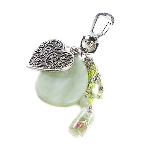 New Jade Heart Bag Charm