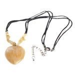 Honey Jade Heart Pendant