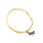 Honey Jade Bead Bracelet