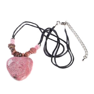 Rhodonite Heart Pendant