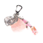 Rose Quartz Heart Bag Charm