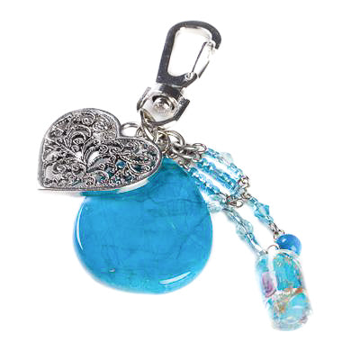 Turquetine Heart Bag Charm