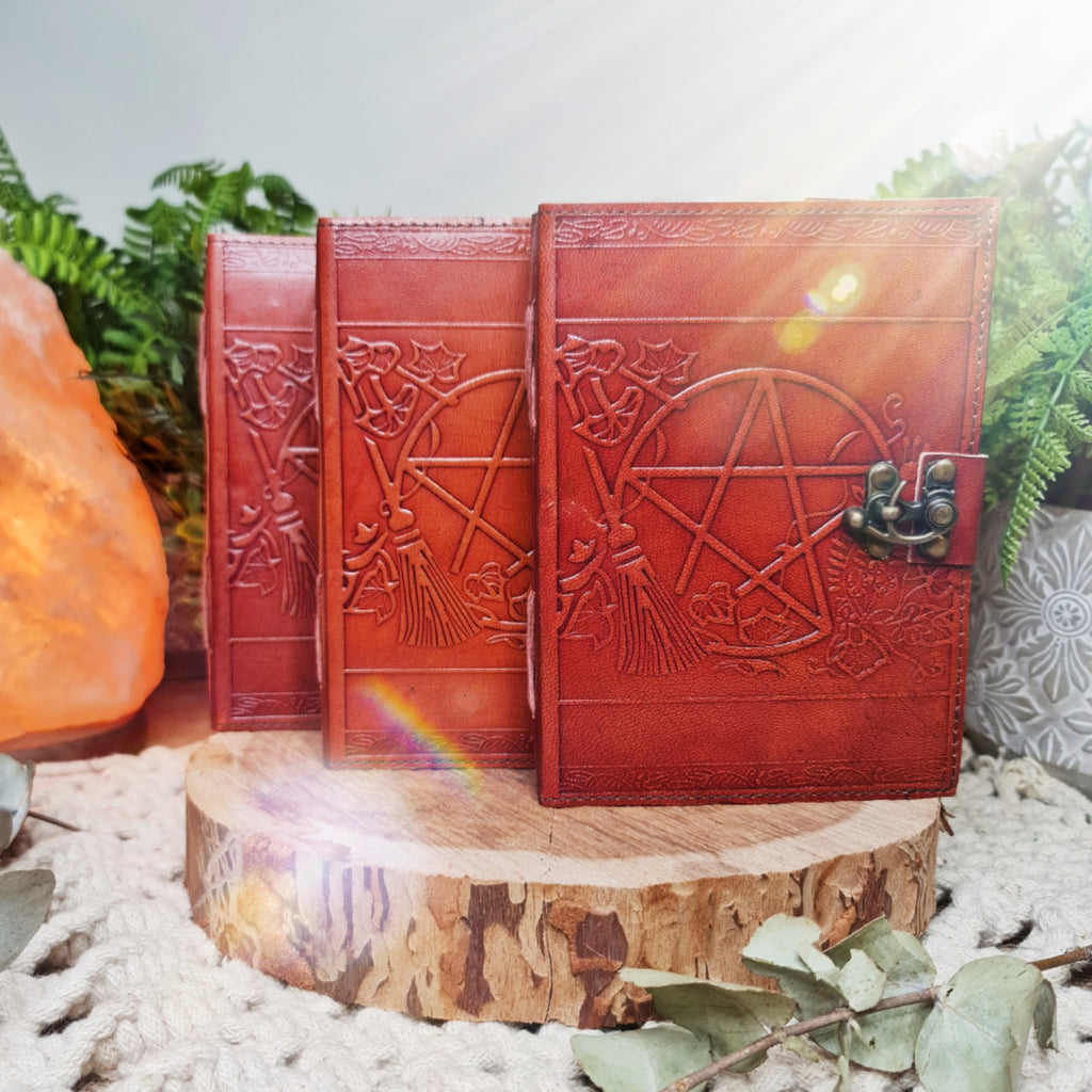 Leather Pentagram Journals