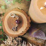 Blessings Amethyst Pet Charm With Paw