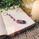 Amethyst Point Key Ring