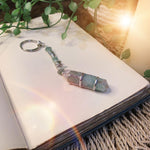 Green Aventurine Point Key Ring