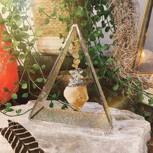 Lucky Stone Citrine Triangle