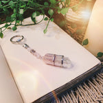 Clear Quartz Point Key Ring