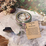 Cleansing & Protection Wish Candle with Clear Quartz