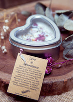 Love & Abundance Heart Candle