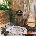 Protection Obsidian Hanging Sphere On Stand