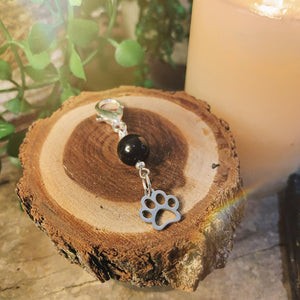 Protection Onyx Pet Charm With Paw