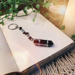 Obsidian Point Key Ring