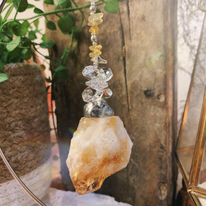 Cluster Raw Citrine On Stand
