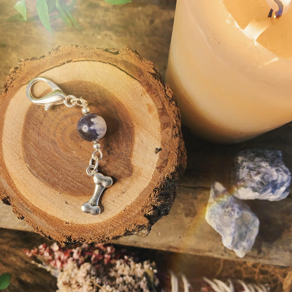 Calming Soalite Pet Charm With Bone