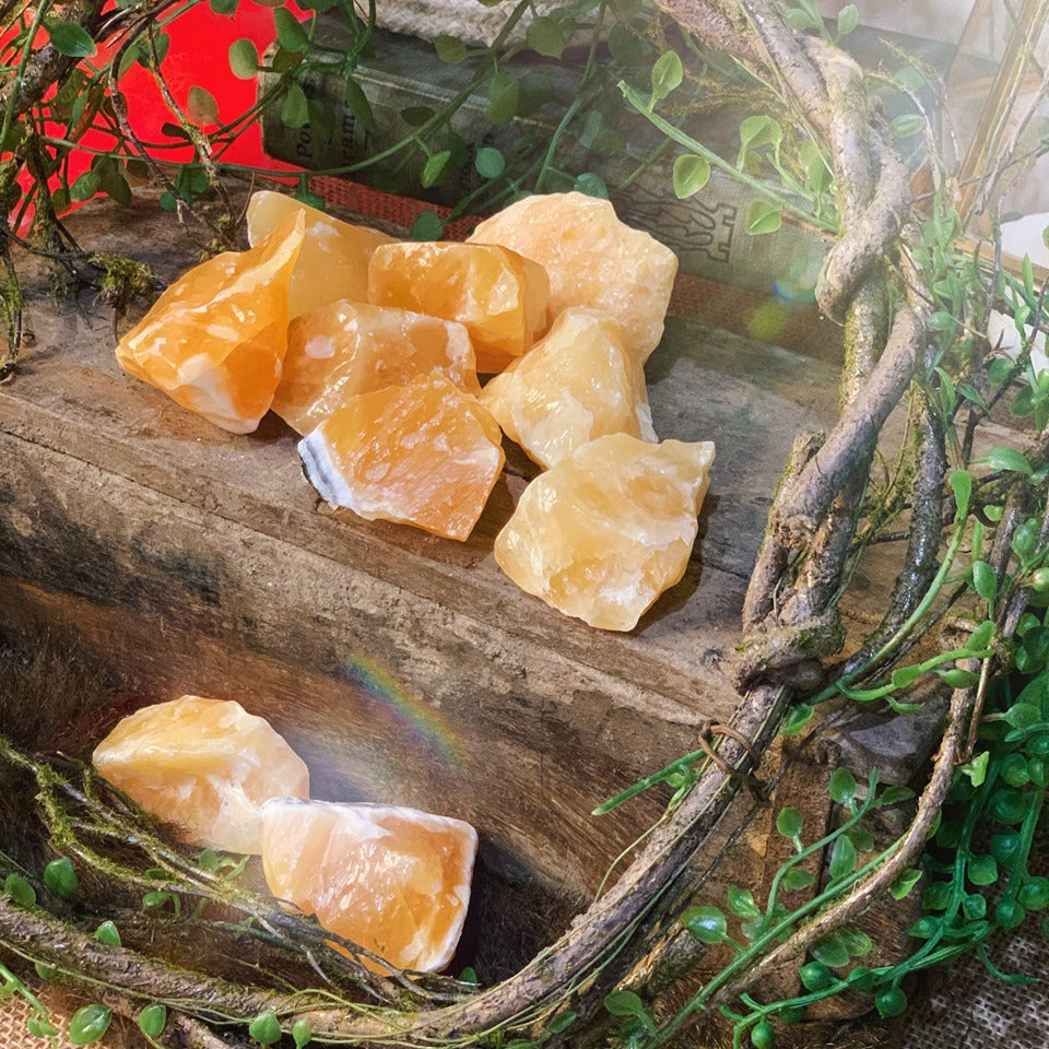 Yellow Calcite Chunks