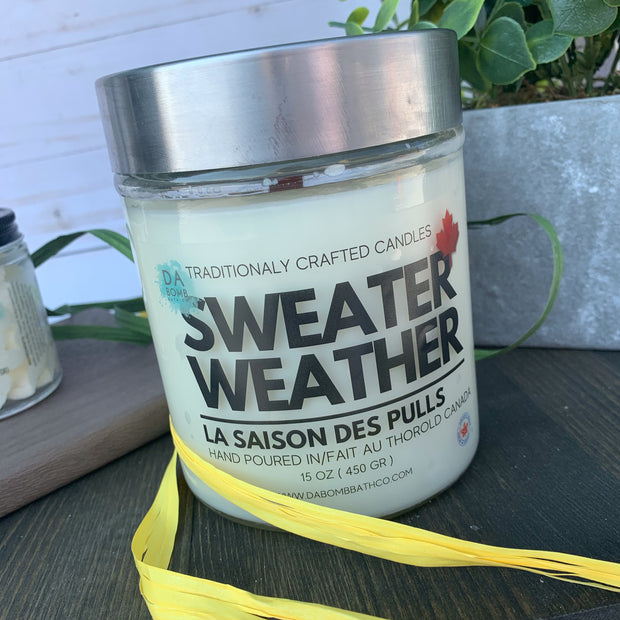 Sweater Weather  Soy Candle - 15 oz