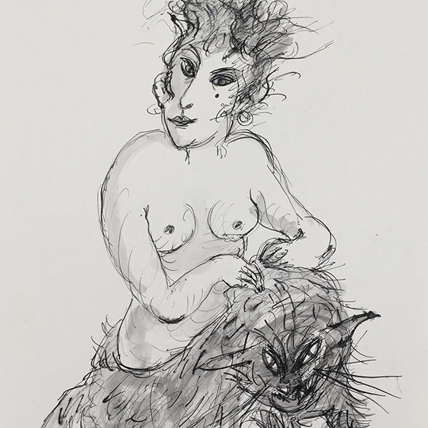 Alexis Hunter, Untitled, undated and unsigned, Ink and wash on paper crop