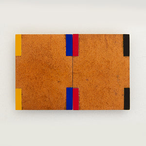 Stephen Bambury, Bridge (primary), 1992/93, Acrylic and Copper Leaf on Aluminium