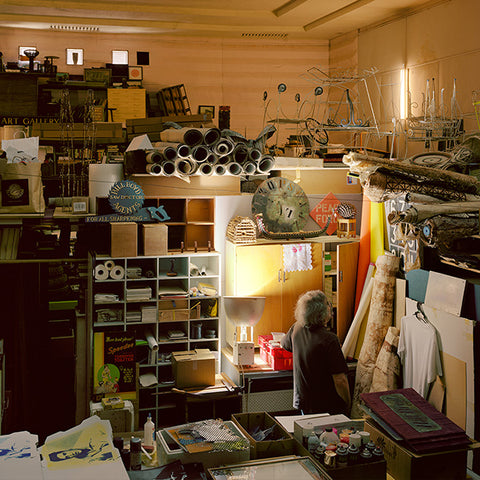 Chris Corson-Scott John Perry In His Workshop, Former Regent Cinema, Helensville, 2016 crop