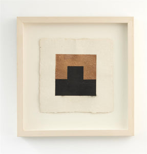 Stephen Bambury, Drawing on Secret Knowledge (III), 2014 Pencil, acrylic, enamel and copper leaf on handmade Indian paper, 490 x 480mm framed