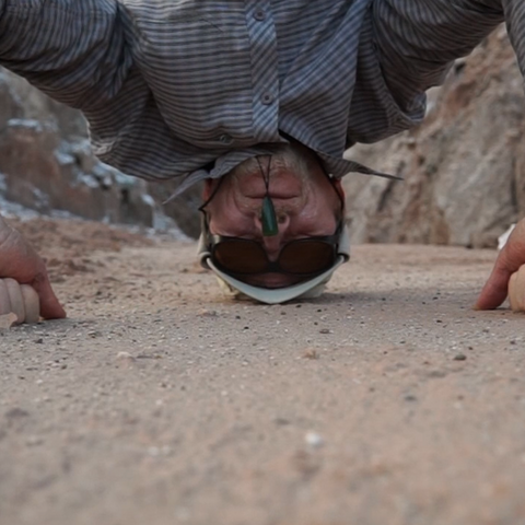 Phil Dadson Headstamp (Atacama), 2014 single channel video still crop