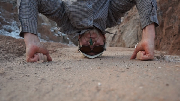 Phil Dadson Headstamp (Atacama), 2014 single channel video still