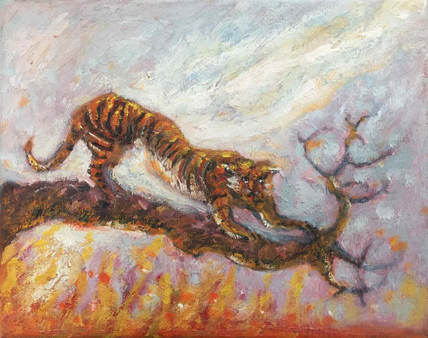 Alexis Hunter, Tiger Economy, Oil on canvas