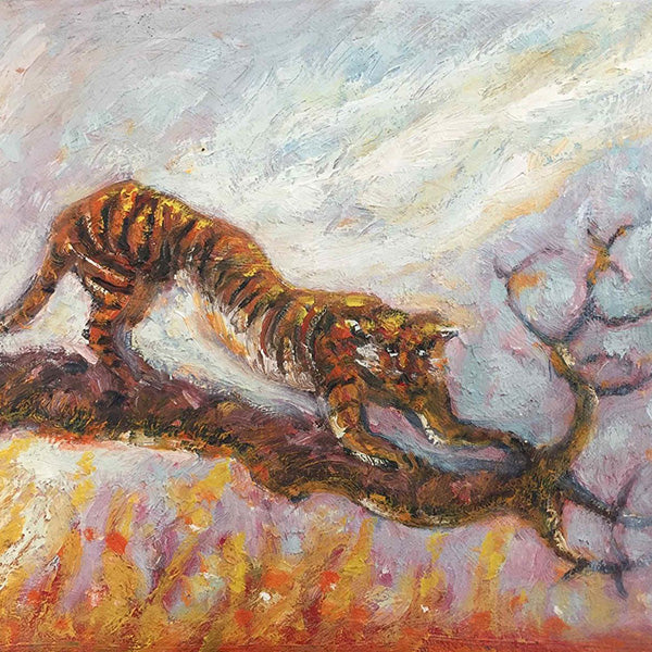 Alexis Hunter, Tiger Economy, Oil on canvas crop
