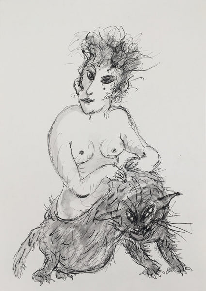 Alexis Hunter, Untitled, undated and unsigned, Ink and wash on paper
