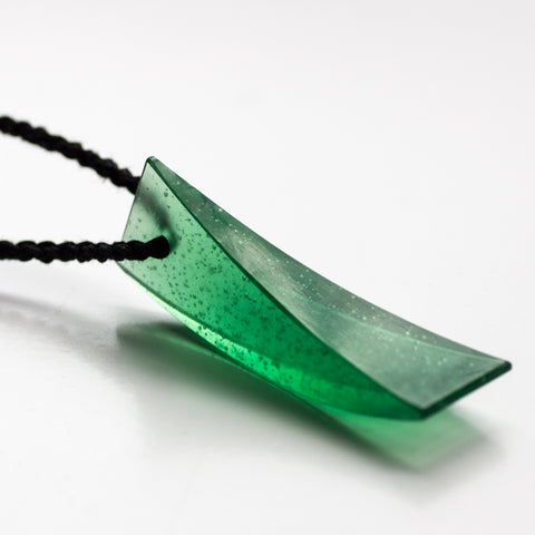 Galia Amsel Green Cast Glass Neckpiece