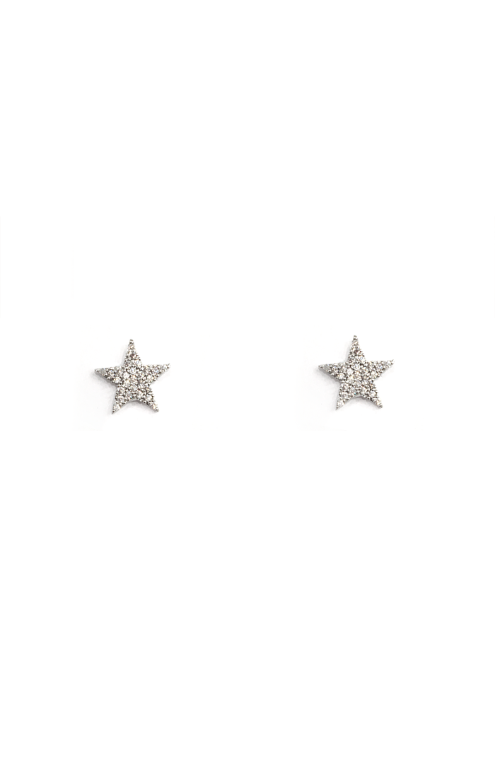 Silver star stud vintage style earrings for Hollywood glamour