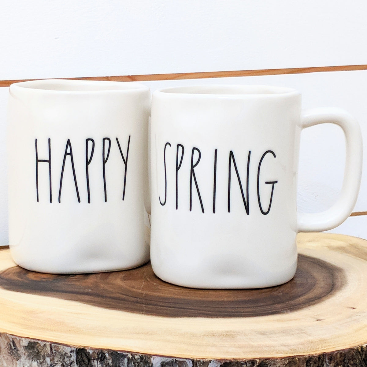 Owl Kitchen Canisters Rae Dunn Happy Spring Mug Pair Little Rose Owl Boutique