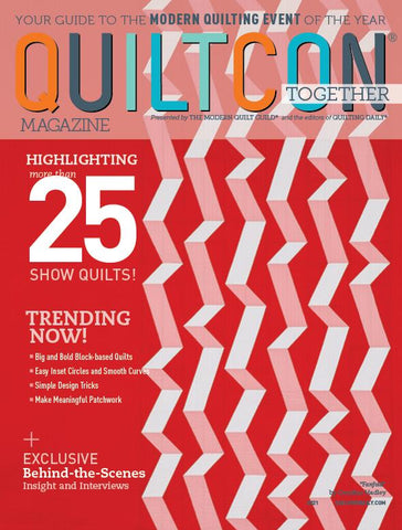 QuiltCon Together Magazine Cover