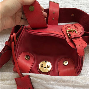Chloe red leather cross body bag