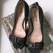 Miu Miu denim washed pumps Size 6
