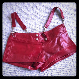 Gorgeous leather shorts I used to dance with