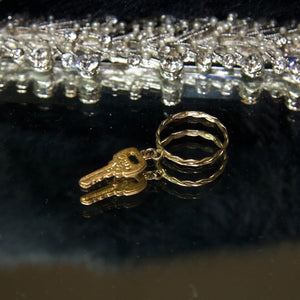 My Vintage gold dipped key ring