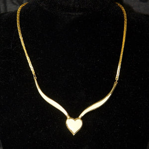 My Vintage Gold Dipped Gorgeous Heart Necklace