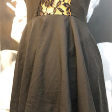 Stunning black lace cut out dress
