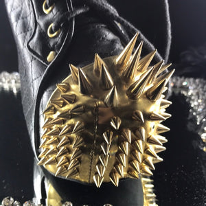 Rhino spikes Jeffery Campbell black and gold NWT
