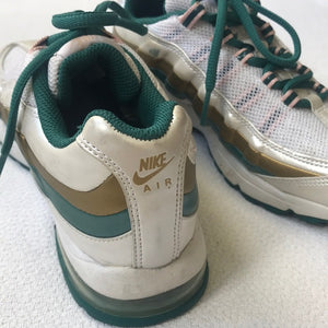 My Nike green pearl white gold and pink shoes