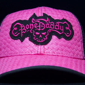 My Bon Daddy Artist Pink and Black Baseball Hat