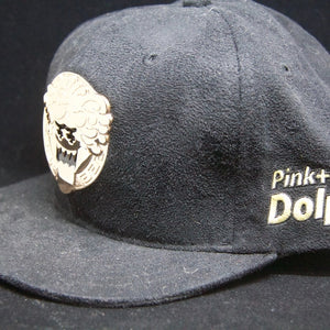 My Pink Dolphin Baseball Hat Gold on Black